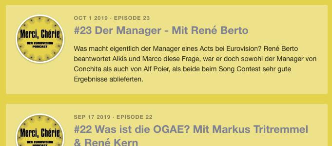 episoden Merci, Chérie podcast