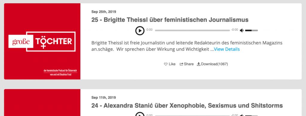 episoden podcast große töchter